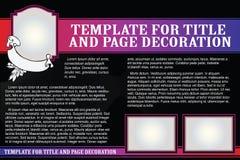 传染媒介在一个浪漫样式的模板小册子 免版税库存图片