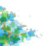 传染媒介在一边的水彩背景 皇族释放例证