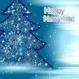 传染媒介2015年在印刷术样式的新年快乐背景 免版税库存图片