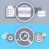 传染媒介在平的样式的企业概念 免版税库存照片