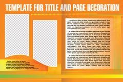 传染媒介在抽象样式的模板小册子 免版税库存照片
