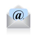 传染媒介电子邮件标志 免版税库存图片