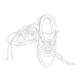 传染媒介在白色背景的体育footware 库存图片