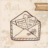 传染媒介在白色背景的邮费信封。 免版税库存照片