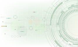 传染媒介在轻的背景的技术元素 免版税库存照片