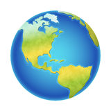 传染媒介地球例证 图库摄影