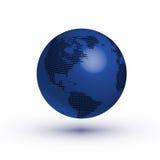 传染媒介地球象 免版税库存照片