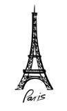 传染媒介埃佛尔铁塔 向量例证