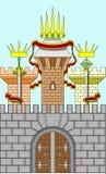 传染媒介城堡 免版税图库摄影