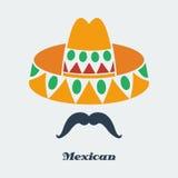 传染媒介墨西哥人 免版税库存照片