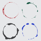 传染媒介墨水在颜色的杯子斑点 图库摄影