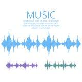 传染媒介声波 音乐数字式调平器 音频技术 免版税库存图片