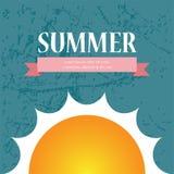 传染媒介夏天销售小册子/背景设计 库存照片