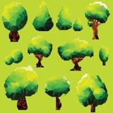 传染媒介多角形树剪贴美术 免版税库存照片