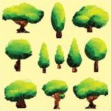 传染媒介多角形树剪贴美术 免版税库存图片
