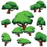 传染媒介多角形树剪贴美术 库存照片