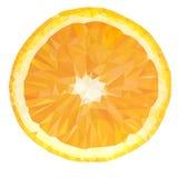 传染媒介多角形橙色果子象 免版税库存图片