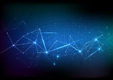 传染媒介多角形背景摘要技术通信数据 免版税图库摄影
