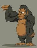 传染媒介大猩猩 免版税库存照片
