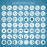 传染媒介天气象为装饰物和站点设置了 免版税库存图片