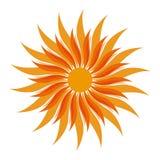 传染媒介太阳形状 免版税库存照片