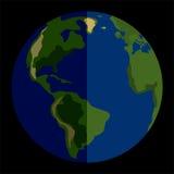 传染媒介太阳系行星地球 图库摄影