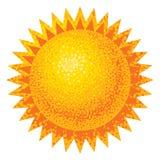 传染媒介太阳 库存图片