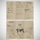传染媒介套三部合成的小册子设计模板 皇族释放例证