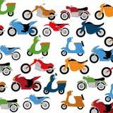 传染媒介套不同的五颜六色的摩托车 库存例证