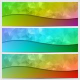 传染媒介套与摘要的多色横幅 图库摄影