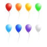传染媒介套五颜六色的气球 库存照片