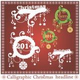 传染媒介套圣诞节标题 库存图片