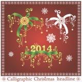 传染媒介套圣诞节标题 免版税库存照片