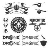 传染媒介套寄生虫飞行俱乐部标签,徽章 图库摄影