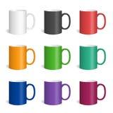 传染媒介套现实色的杯子 免版税库存图片