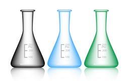 传染媒介套科学玻璃器皿 库存照片