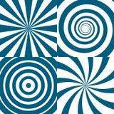 传染媒介套转动 荧光的圈子和漩涡 向量例证
