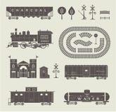传染媒介火车集合 库存图片