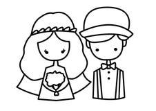 传染媒介婚礼 图库摄影
