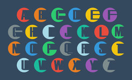 传染媒介字母表集合 免版税库存照片