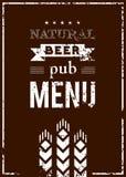 传染媒介客栈的啤酒菜单 图库摄影