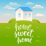 传染媒介家庭甜家庭海报 库存图片