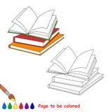 传染媒介将上色的动画片书 图库摄影