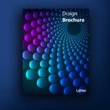 传染媒介小册子小册子盖子设计模板 库存例证