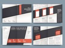 传染媒介小册子布局设计模板 免版税库存图片