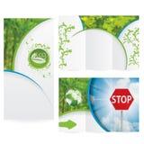 传染媒介小册子布局设计 免版税图库摄影