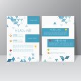 传染媒介小册子模板设计 免版税图库摄影