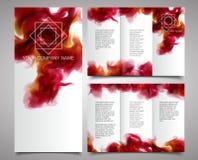 传染媒介小册子设计模板 库存图片