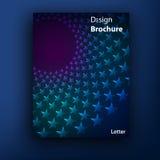 传染媒介小册子/小册子盖子设计模板 库存图片