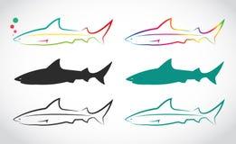 传染媒介小组鲨鱼 免版税库存图片
